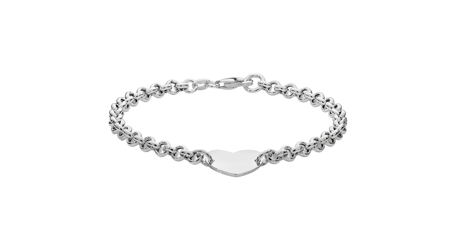 Sterling Silver Heart Detail Bracelet