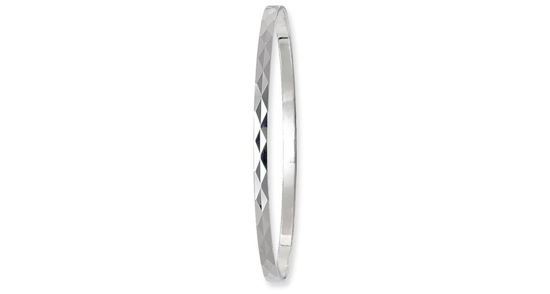 Sterling Silver Diamond Cut Bangle