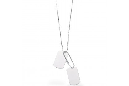 Sterling Silver Double Dog Tag Necklace