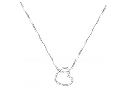 Sterling Silver Open Heart Detail Necklace