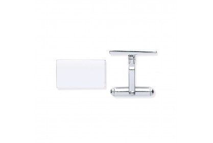 Sterling Silver Plain Cufflinks