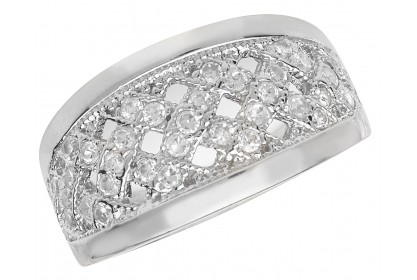 Sterling Silver CZ Dress Ring