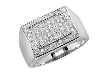 Sterling Silver CZ Signet Ring