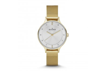 Skagen Anita Gold Tone Steel Mesh Watch