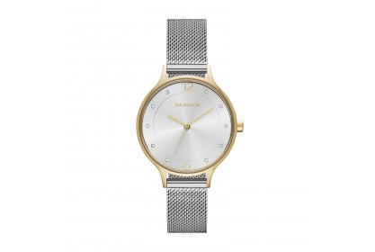 Skagen Anita Two-Tone Steel Mesh Watch