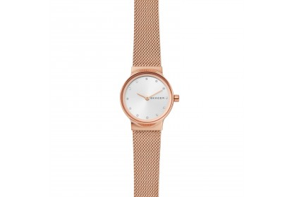 Skagen Freja Rose Gold Tone Steel Mesh Watch