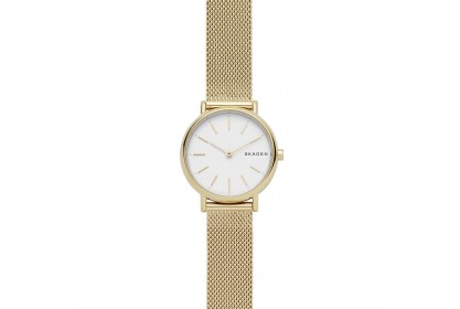 Skagen Signatur Slim Gold Tone Steel Mesh Watch