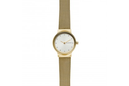 Skagen Freja Gold Tone Steel Mesh Watch