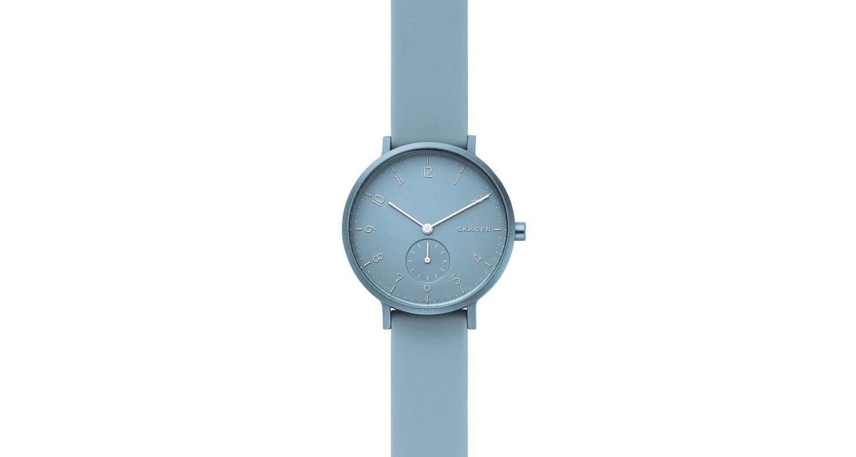 Skagen Aaren Kulor Light Blue Silicone 36mm Watch