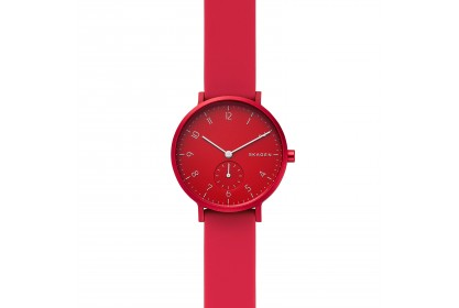 Skagen Aaren Kulor Red Silicone 36mm Watch