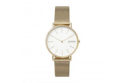 Skagen Signatur Gold Tone Steel Mesh Watch