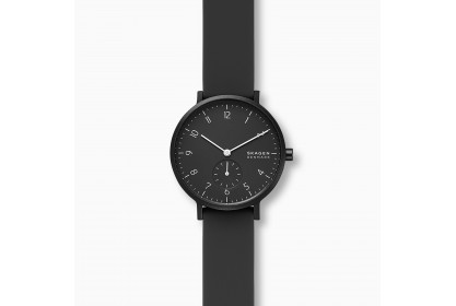 Skagen Aaren Kulor Black Silicone 36mm Watch