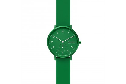 Skagen Aaren Kulor Green Silicone 36mm Watch