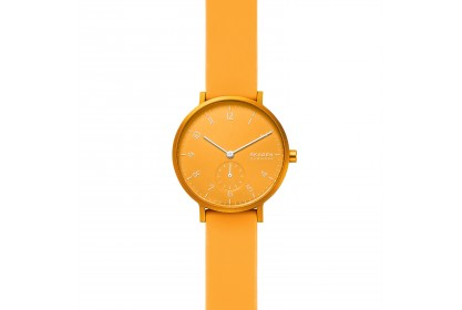 Skagen Aaren Kulor Yellow Silicone 36mm Watch