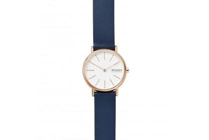 Skagen Signatur Two Hand Blue Leather Watch