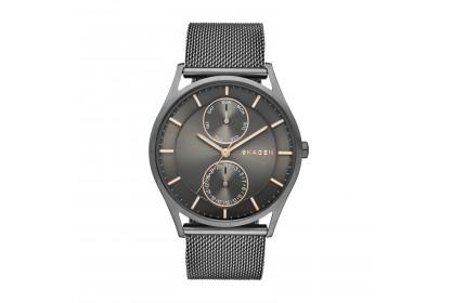 Skagen Holst Grey Steel Mesh Multifunction Watch