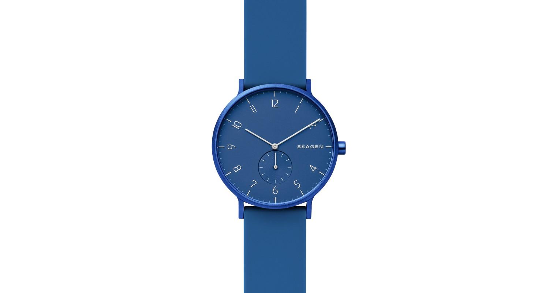 Skagen Aaren Kulor Blue Silicone 41mm Watch