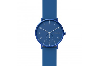 Skagen Aaren Kulor Blue Silicone 41mm Watch