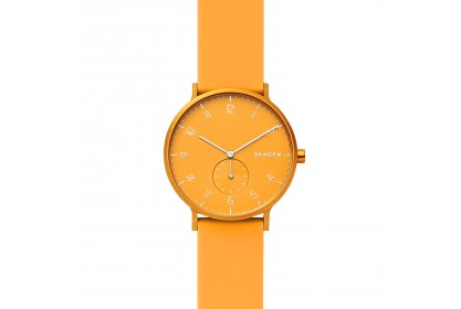 Skagen Aaren Kulor Yellow Silicone 41mm Watch