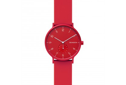 Skagen Aaren Kulor Red Silicone 41mm Watch
