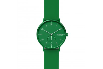 Skagen Aaren Kulor Green Silicone 41mm Watch