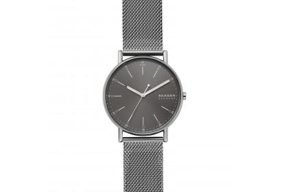 Skagen Signatur Three Hand Grey Steel Mesh Watch