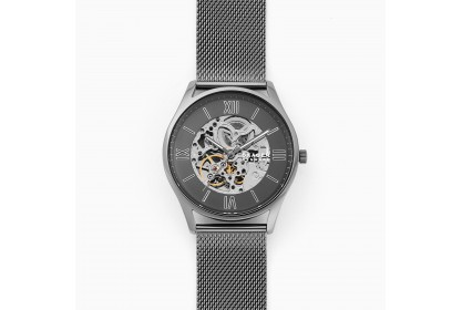 Skagen Holst Automatic Gunmetal Steel Mesh Watch