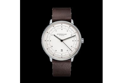 Sternglas Hamburg Vintage Mocha Date Watch