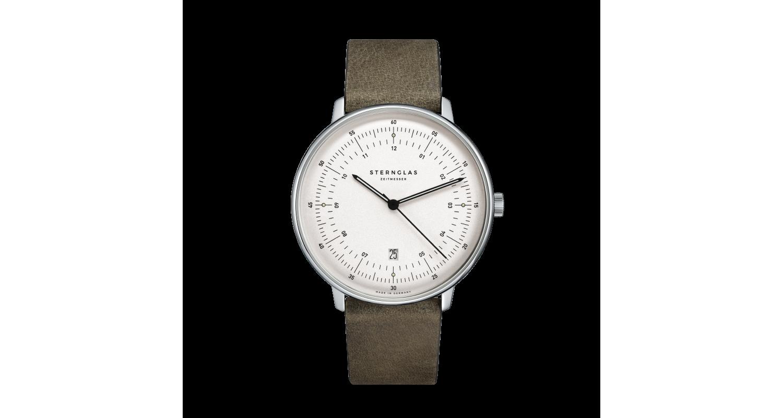 Sternglas Hamburg Olive Green Date Watch