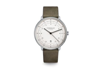 Sternglas Hamburg Olive Green Date Watch