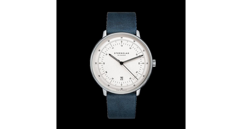 Sternglas Hamburg Midnight Blue Date Watch