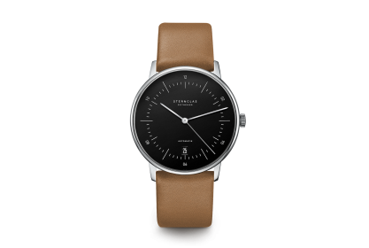 Sternglas Naos Black & Brown Date Automatic Watch