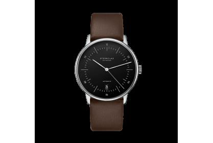 Sternglas Naos Dark Brown & Black Date Automatic Watch