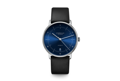 Sternglas Naos Blue & Black Date Automatic Watch