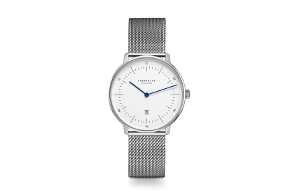 Sternglas Naos XS Mesh Date Watch