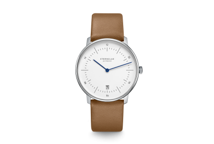 Sternglas Naos Brown & White Date Watch
