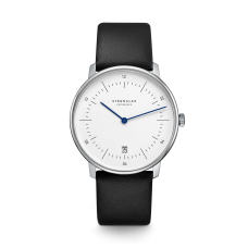 Sternglas Naos Black & White Date Watch