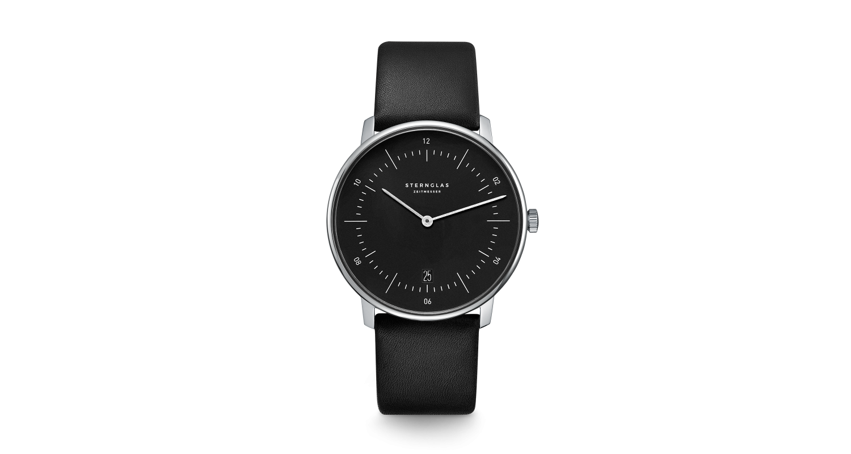 Sternglas Naos Black Date Watch