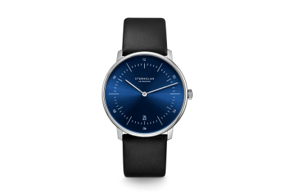 Sternglas Naos Blue & Black Date Watch