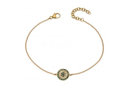 9ct Yellow Gold Topaz & Black Spinel Bracelet