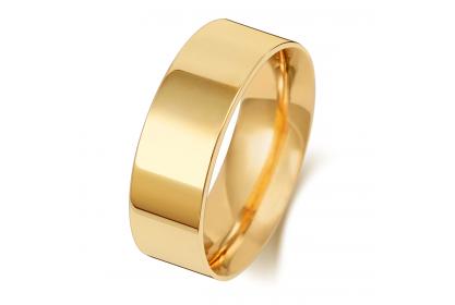 9ct Yellow Gold Flat Court 7mm Medium Weight Band