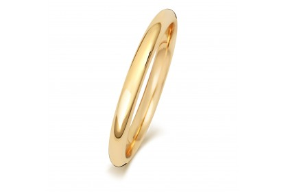 18ct Yellow Gold Court 2mm Medium Weight Band
