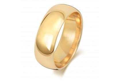18ct Yellow Gold Court 7mm Medium Weight Band