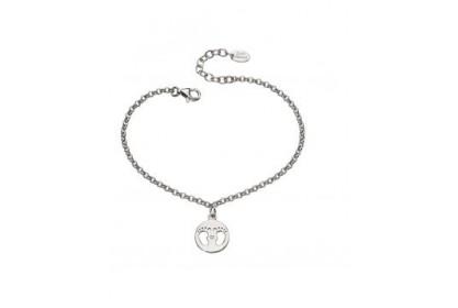 D For Diamond Footprint Bracelet